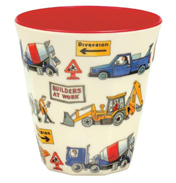 Builders at Work Two-Tone Melamine Beaker