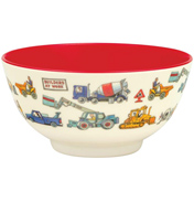 Builders at Work Two-Tone Melamine Bowl