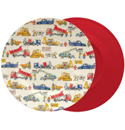 Builders at Work Two-Tone Melamine Plate