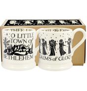 Christmas Carols Set of Two ½ Pint Mugs