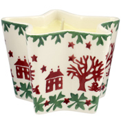 Christmas Joy Star Shaped Candle Holder