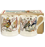 Game Birds Set of Two ½ Pint Mugs