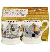 Hen & Toast Set of Two ½ Pint Mugs