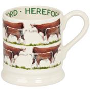 Hereford Cow 1/2 Pint Mug