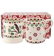 Joy Robin Set of 2 ½ Pint Mugs