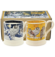 Owls at Night Set of 2 ½ Pint Mugs