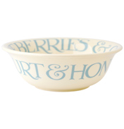 Pale Blue Toast Cereal Bowl