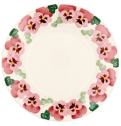 """Pink Pansy 10½"""" Plate"""