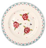 "Rose & Bee 10½"" Plate"