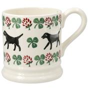 Sponge Labrador & Clover ½ Pint Mug