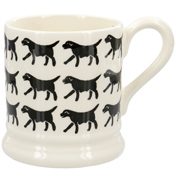 Sponge Black Labrador Row ½ Pint Mug