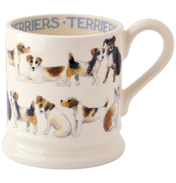 Terriers All Over ½ Pint Mug