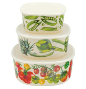 Set of Three Melamine Storage Containers