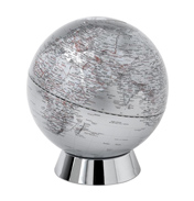 20cm Silver Globe Money Bank