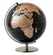 30cm Black & Copper Globe