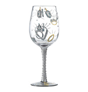 Girls Best Friend Wine Glass