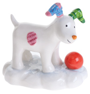John Beswick The Snowdog Playing in The Snow Figurine