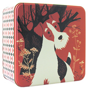John Hanna Large Square Dog Tin