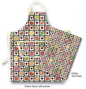 Julie Dodsworth Chocolate Box Cotton Tea Towel