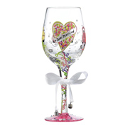 Lolita Just Married Wedding Wine Glass