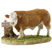 Beware of the Bull Figurine
