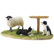 Ewe Take The Left (Swaledale) Figurine