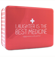 'Laughter is the Best Medicine' Rectangular Storage Tin