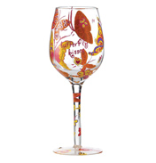 Butterfly Kisses Wine Glass