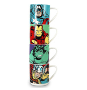 Marvel Stacking Mugs (Set of 4) Characters