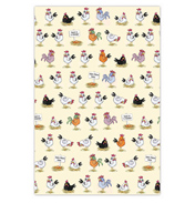 McCaw Allan Chickens Tea Towel