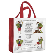 In Times Of Stress PVC Mini Gusset bag