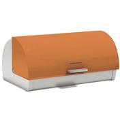Accents Orange Roll Top Bread Bin