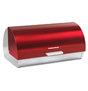 Accents Red Roll Top Bread Bin