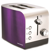 Accents Plum Polished 2 Slice Toaster