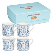 Caravan Trail Penzance Espresso 4 Mug Set 70ml in Gift Box