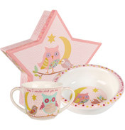 Twinkle Twinkle Pink Porringer and Mug Set in Gift Box