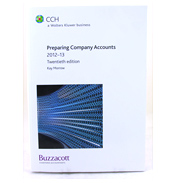 Preparing Company Accounts 2011-2012