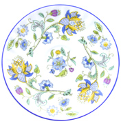 Minton Haddon Hall Blue Coffee Cup & Saucer