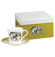 Maple Savanna 4 Espresso Cups & Saucer in Gift Box