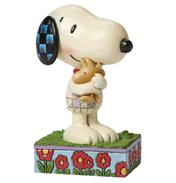 Schulz Peanuts Snoopy & Woodstock Hugging