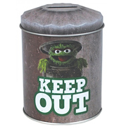 Sesame Street Grouch Dustbin Money Tin (KEEP OUT…