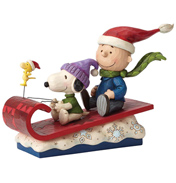 Peanuts Snow Day (Charlie & Snoopy) Figurine