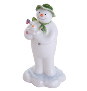John Beswick Comic Snowman The Snowman Holding The Snowdog