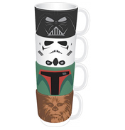 Star Wars 4 Character Stacking Mug Set